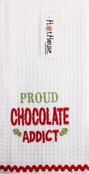 Picture of Tea towel chocolate addict