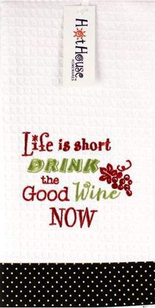 Picture of Tea towel drink the good wine