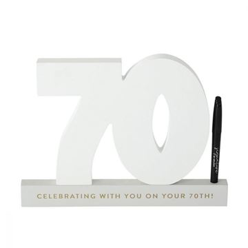 Picture of 70th signature number