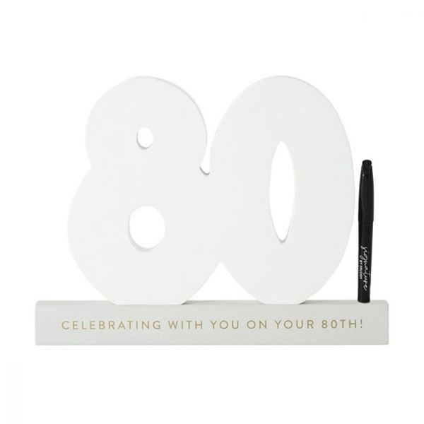 Picture of 80th signature number