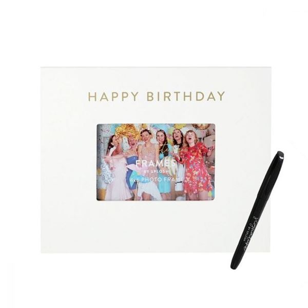 Picture of Happy birthday signature frame