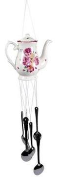 Picture of Victorian rose ceramic jug windchime