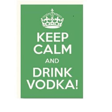 Picture of Keep calm vodka wall art