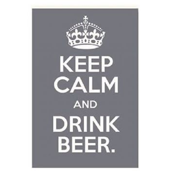 Picture of Keep calm beer wall art