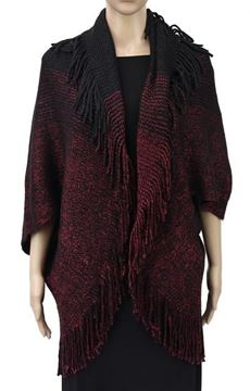 Picture of Red shrug cape with lurex