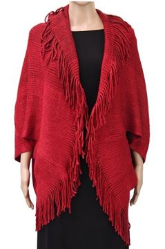 Picture of Wine shrug cape with lurex