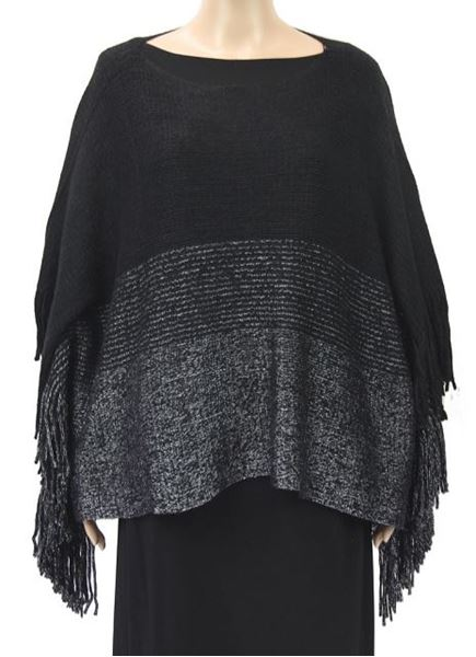 Picture of Black poncho with lurex