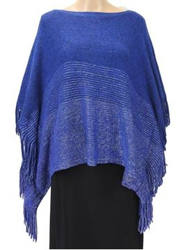 Picture of Cobalt poncho with lurex