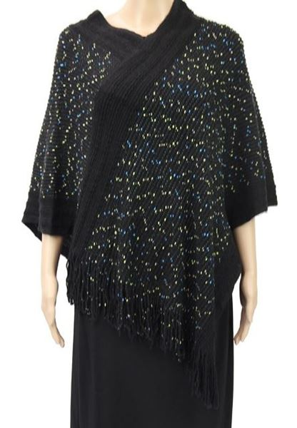 Picture of Black speckled poncho