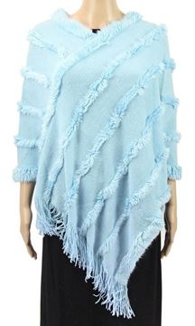 Picture of Baby blue poncho fur trim line