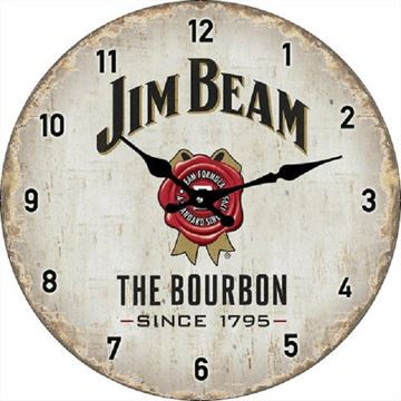 Picture of Clock  jim beam whisky 30cm