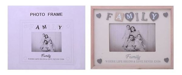 Picture of 6x4 family sentiment frame