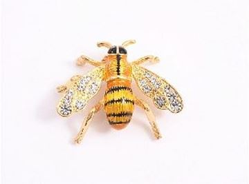 Picture of Gold bee brooch