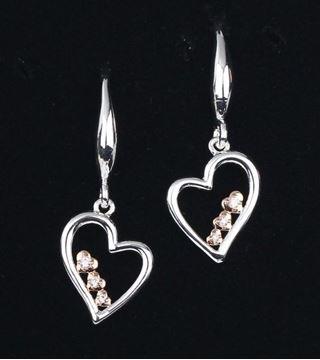 Picture of EQ 2 tone heart earrings