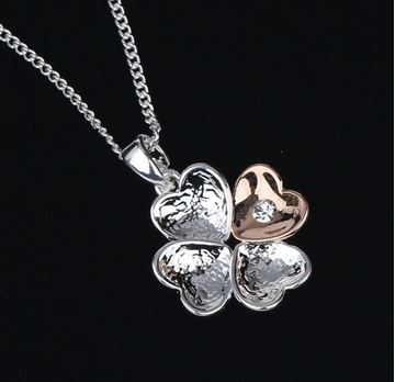 Picture of EQ heart 2 tone necklace