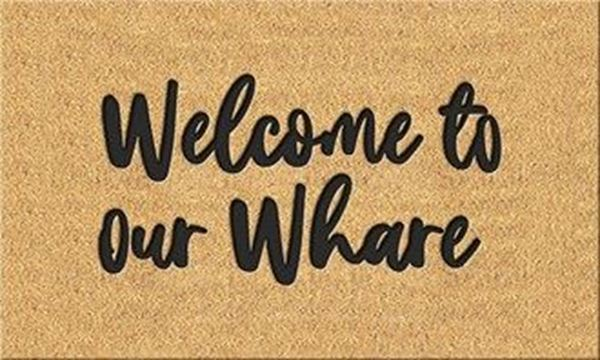 Picture of Doormat welcome to our whare