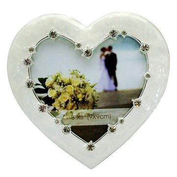 Picture of Wedding frame heart small