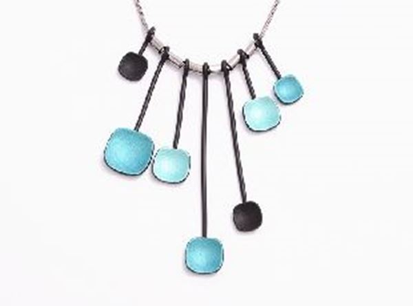 Picture of Blue beads silver pendant