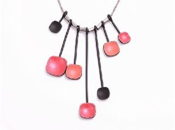 Picture of Red beads silver pendant