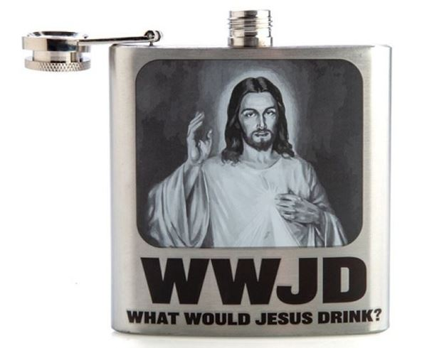 Picture of Jesus flask