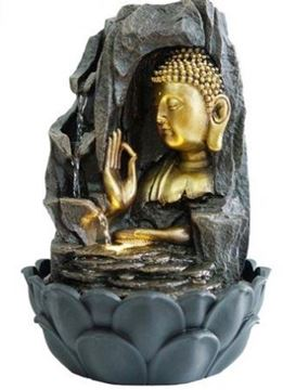 Picture of Water feature buddha on lotus