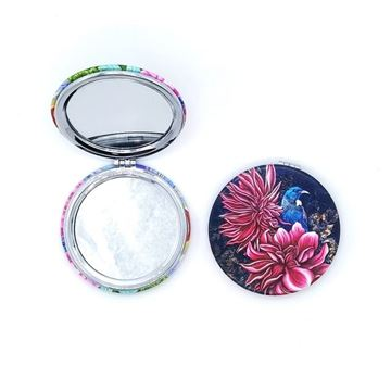 Picture of Tui pink flower compact mirror