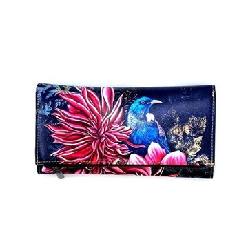 Picture of Tui pink flower long wallet