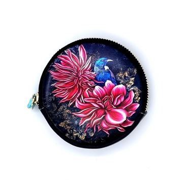Picture of Tui  pink flower coin purse