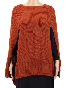 Picture of Rust front slits poncho
