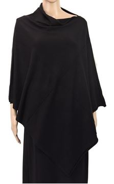 Picture of Black stretch poncho