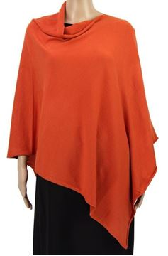 Picture of Rust stretch poncho