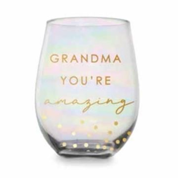 Picture of Grandma pink/gold stemless