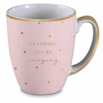 Picture of Grandma pink/gold mug