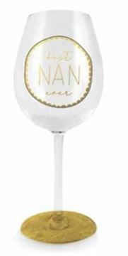 Picture of Best nan ever black wine glass