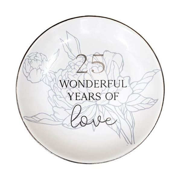 Picture of Anniversary 25th trinket plate