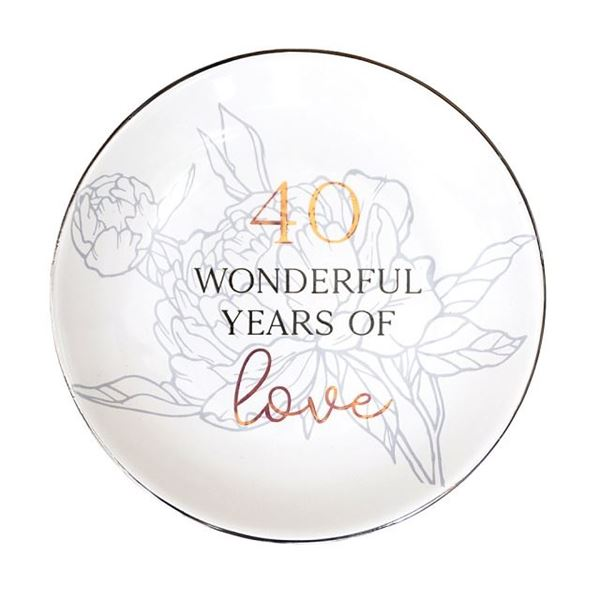 Picture of Anniversary 40th trinket plate