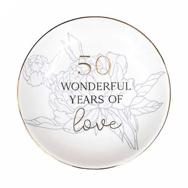 Picture of Anniversary 50th trinket plate