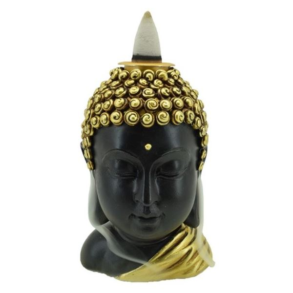 Picture of Gold buddha head backflow