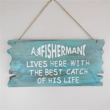 Picture of A fisherman lives sign