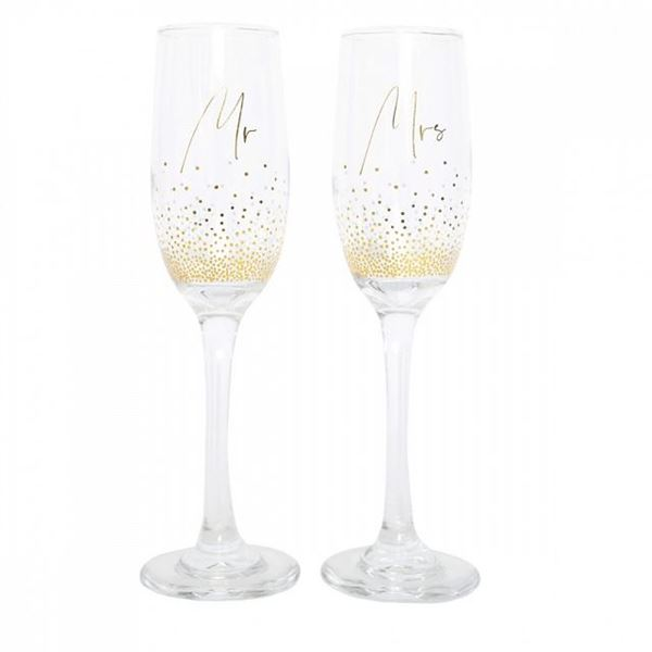 Picture of Mr & mrs champagne flutes
