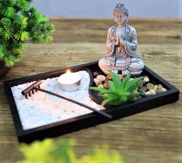 Picture of Zen garden buddha praying
