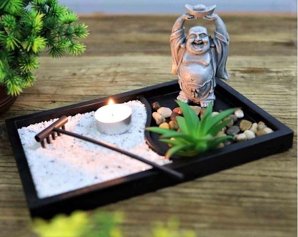 Picture of Zen garden standing laughing