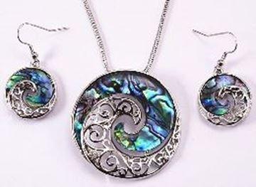 Picture of Paua koru pendant set