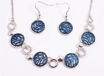 Picture of Navy beads necklace set
