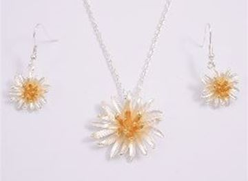 Picture of Silver gold daisy nl set