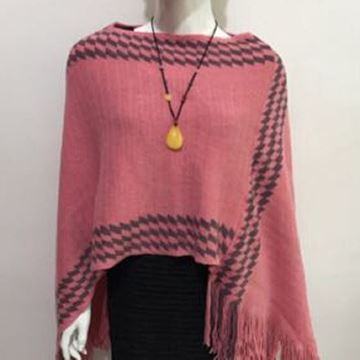 Picture of Coral zigzag poncho