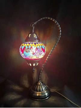 Picture of Turkish mosaic lamp swan neck