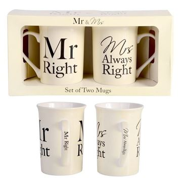 Picture of Mr & mrs right mug set