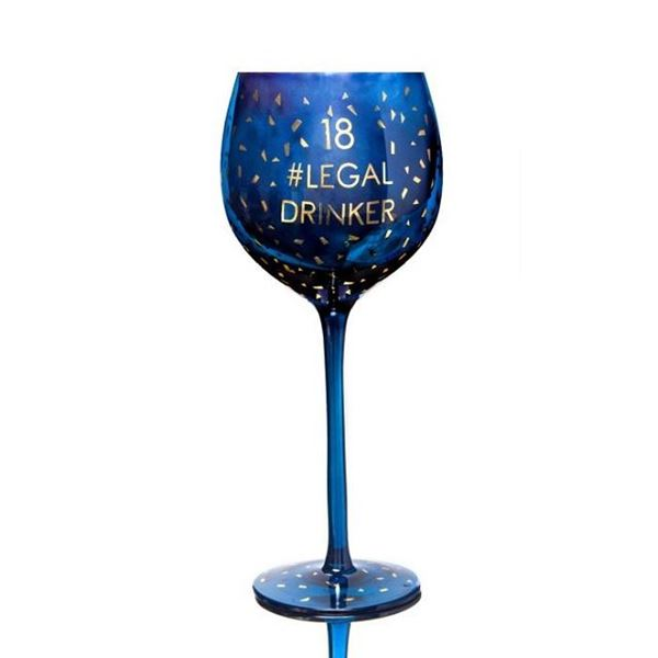 Picture of 18 legal opulent wine glass
