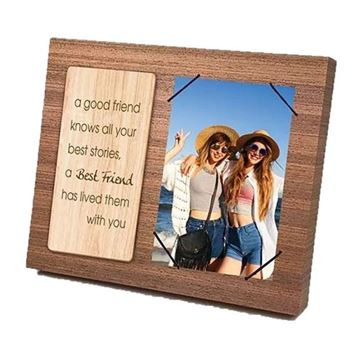 Picture of Best friend wooden frame 4x6
